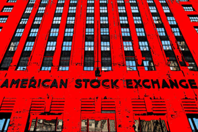 American Stock Exchange Red Ink Equity Market Trading