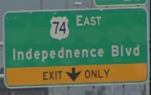 Bad Spelling Independence Road Sign