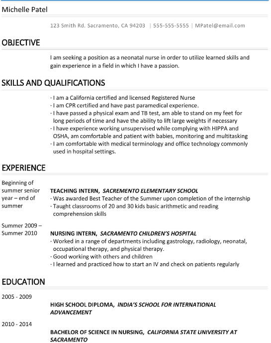 michelle patel resume sample - Language On Resume Sample