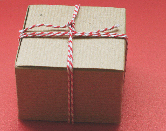 Brown Paper Package tied up with red string
