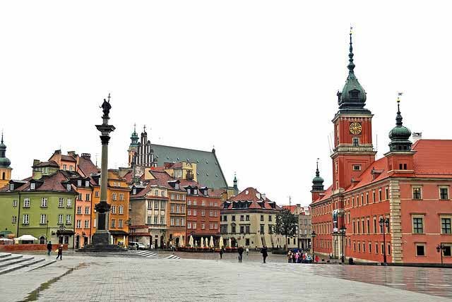 Castle Square in Poland.