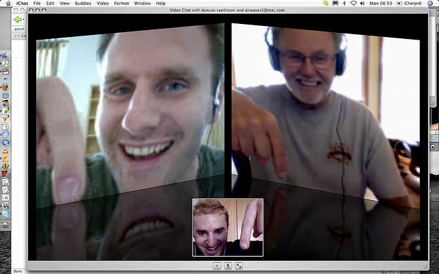Exchanging Conversation over Video Chat