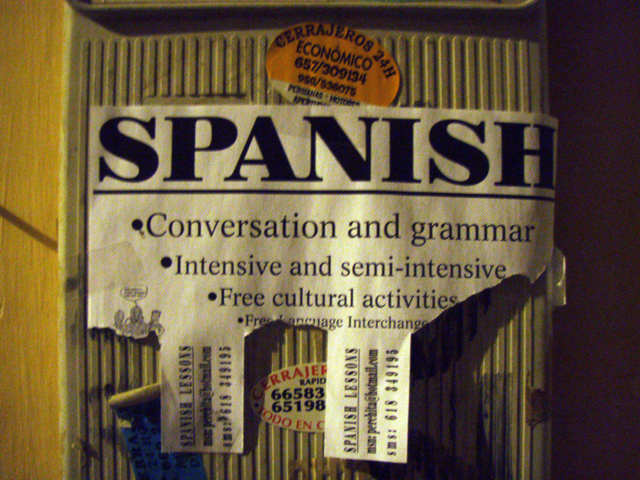 Spanish bulletin conversation and grammar intensive semi-intensive free cultural activities free lan