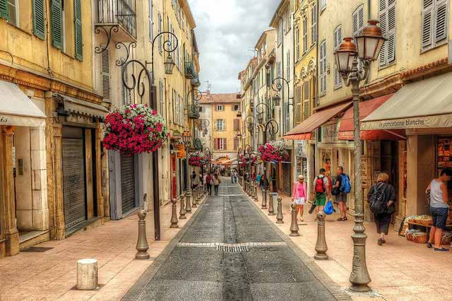 Street in Antibes, France