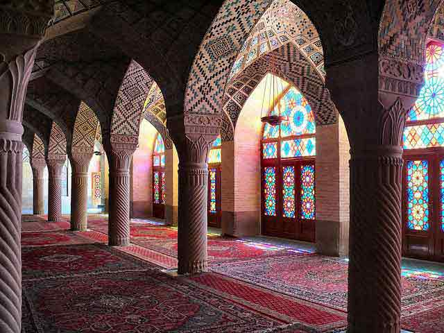 Persian praying room of the Masr Ol Molk Mosque