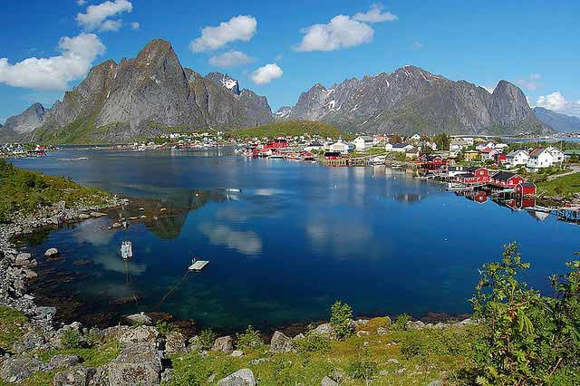 Scenery of Norway in Reine, Lofoten