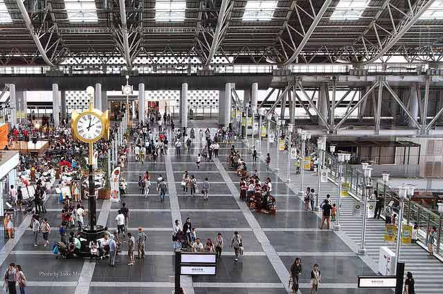 The Osaka Station in Kansai, Japan