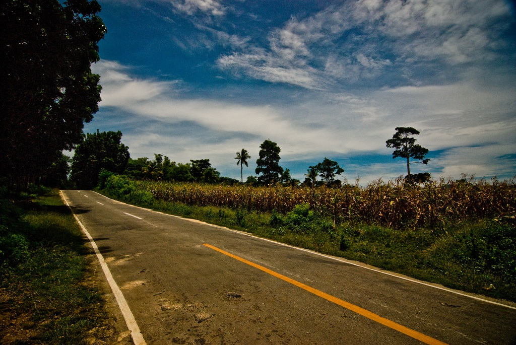 Empty roads in Siquijor Island, Central Visaya