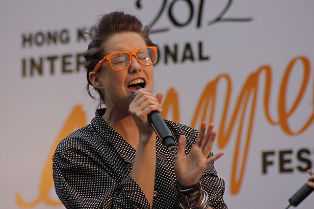 Amy Whitcomb of Delilah at the Hong Kong International A Cappella Festival 2012