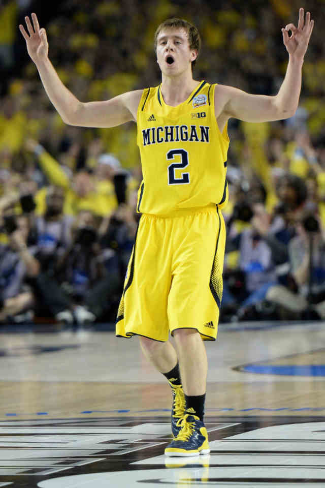Spike Albrecht of the 2012-13 Michigan Wolverines men's basketball team