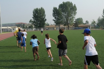 Kids Running with Coachj